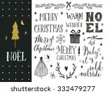 noel. hand drawn christmas... | Shutterstock .eps vector #332479277
