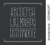 decorative line font. monoline... | Shutterstock .eps vector #332484197