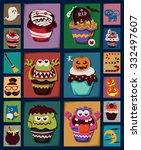 vintage halloween poster design ... | Shutterstock .eps vector #332497607