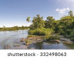 landscape of parana river and...