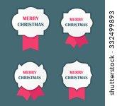 christmas label vector... | Shutterstock .eps vector #332499893