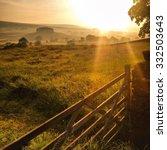 sunrise over wensleydale ... | Shutterstock . vector #332503643