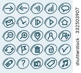 set of free style icons for web ...