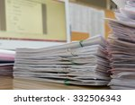 a file folder with documents... | Shutterstock . vector #332506343