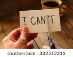 man hand holding card with the...   Shutterstock . vector #332512313