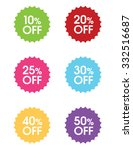 """vector """"percentage off"""" sale...   Shutterstock .eps vector #332516687"""