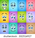different funny emotions with... | Shutterstock .eps vector #332516927