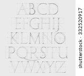 modern roman classic alphabet... | Shutterstock .eps vector #332520917