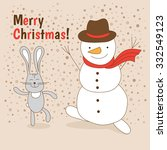 christmas card with an... | Shutterstock .eps vector #332549123