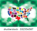 separated state maps  ...   Shutterstock .eps vector #332556587