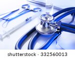 stethoscope with medical... | Shutterstock . vector #332560013
