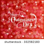 happy valentines day card with... | Shutterstock .eps vector #332582183