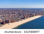 aerial view of long island in... | Shutterstock . vector #332588897