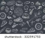 menu poster | Shutterstock . vector #332591753