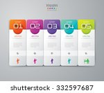 infographic design template can ... | Shutterstock .eps vector #332597687