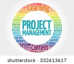 project management circle stamp ... | Shutterstock .eps vector #332613617