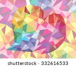 soft heart colorful abstract...   Shutterstock .eps vector #332616533