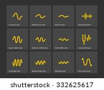 sound note wave types icons....