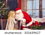 Santa Claus And Little Girl....