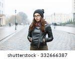 portrait of a beautiful girl in ... | Shutterstock . vector #332666387