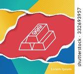 gold bullion line icon | Shutterstock .eps vector #332693957