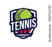 tennis logo  american logo sport | Shutterstock .eps vector #332711537