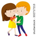 man and woman dancing and... | Shutterstock .eps vector #332717213