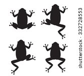set of frog silhouettes on... | Shutterstock .eps vector #332728553