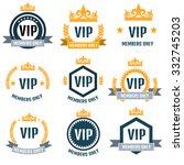 vip club members only logo set | Shutterstock .eps vector #332745203