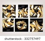vector ink texture watercolor... | Shutterstock .eps vector #332757497
