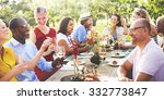 diverse neighbors drinking... | Shutterstock . vector #332773847