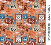seamless route 66 pattern | Shutterstock .eps vector #332776877