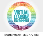virtual learning environment... | Shutterstock .eps vector #332777483