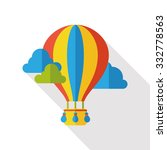 hot air balloon flat icon | Shutterstock .eps vector #332778563
