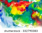 abstract bright watercolor...   Shutterstock . vector #332790383