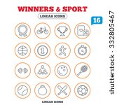 winners and sport icons. winner ... | Shutterstock .eps vector #332805467