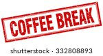 coffee break red square grunge... | Shutterstock .eps vector #332808893