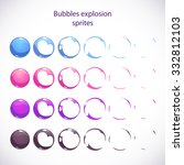 funny cartoon colorful bubbles...