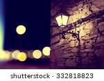 City Lights And Lamppost In Th...