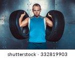 sportsmen. fit male trainer man ... | Shutterstock . vector #332819903