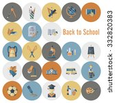 school and education icon set.... | Shutterstock . vector #332820383