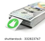 pack with many hundred dollars... | Shutterstock . vector #332823767