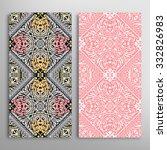 vertical seamless floral... | Shutterstock .eps vector #332826983