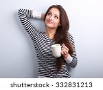 casual attractive thinking...   Shutterstock . vector #332831213
