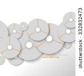 paper fan new year design... | Shutterstock .eps vector #332832473
