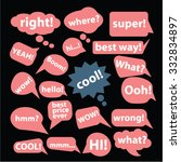 speech  chat icons  signs set ...
