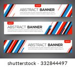 Abstract Banner Design  Red An...