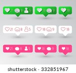 follower  heart and comment... | Shutterstock .eps vector #332851967