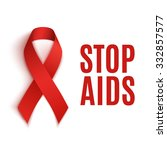 stop aids background.red ribbon.... | Shutterstock .eps vector #332857577