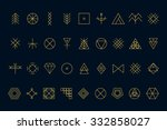 set of geometric shapes. trendy ... | Shutterstock .eps vector #332858027
